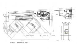 Autocad drawing of gas line station