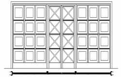 Autocad drawing of glass door detail