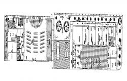 Autocad drawing of health center