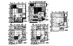 Autocad drawing of hostel 23.72mtr x 23.23mtr with basement parking in dwg file