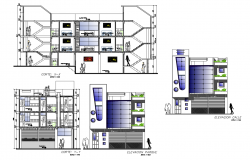 Autocad drawing of hotel elevation