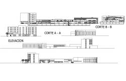 Autocad drawing of hotel elevations