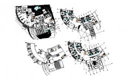 Autocad drawing of hotel layout