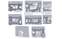 Autocad drawing of house plan with detail dimension