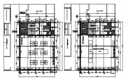 Autocad drawing of institute layout