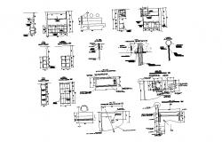 Autocad drawing of interior details