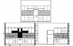 Autocad drawing of kitchen design