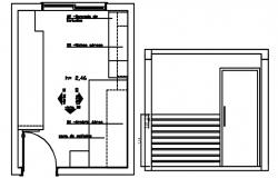 Autocad drawing of master bedroom layout