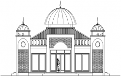 Autocad drawing of mosque elevation