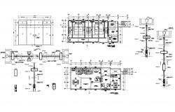 Autocad drawing of office plan with detail dimension