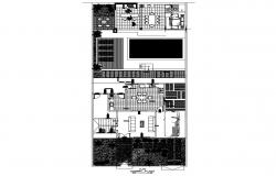 Autocad drawing of residence