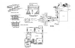 Autocad drawing of residential bungalow