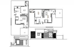 Autocad drawing of residential bungalows