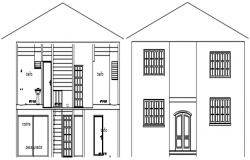 Autocad drawing of residential elevation