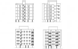 Autocad drawing of residential flat with detail dimension