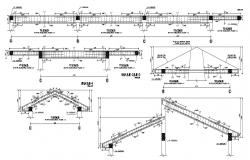 Autocad drawing of roof construction