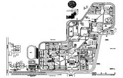 Autocad drawing of school campus