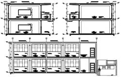 Autocad drawing of school design with section details