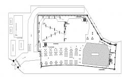 Autocad drawing of site plan