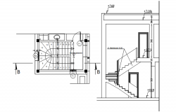 Autocad drawing of staircase layout