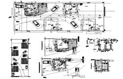 Autocad drawing of studio apartment
