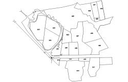 Autocad drawing of survey plan
