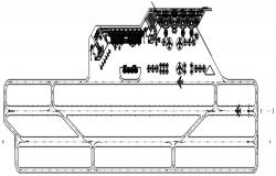 Autocad drawing of the airport