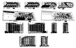 Autocad drawing of the apartment with elevation