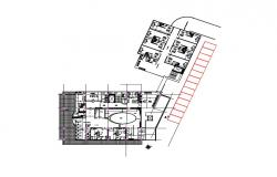 Autocad drawing of the clinic plan