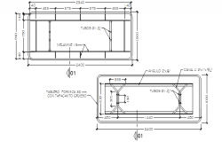 Autocad drawing of the dinning table