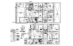 Autocad drawing of the electrical layout with detail dimension