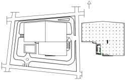 Autocad drawing of the hotel