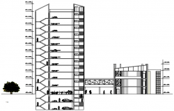 Autocad drawing of the office building in dwg file