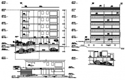 Autocad drawing of the residential building with elevation