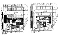 Autocad drawing of the shopping center with detail dimension
