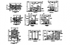 Autocad drawing of toilet layout