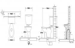 Toilet Block In AutoCAD File