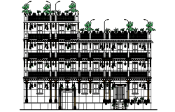 Autocad drawing of traditional theme based hotel