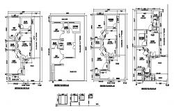 Autocad drawing of two story residential apartment