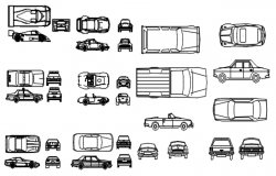 Autocad drawing of vehicles blocks