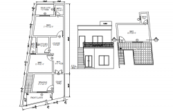 Autocad drawing residential bungalow