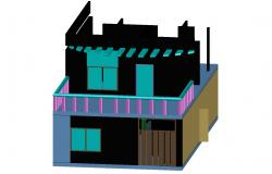 Autocad file of 3D drawing of residential house