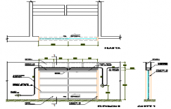 Automatic door detail design drawing