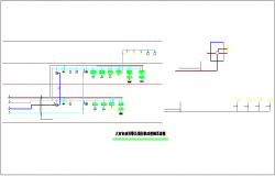Automatic fire alarm and fire linkage control system diagram electrical view dwg file