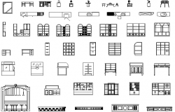 Auxiliary furniture detail dwg file