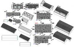 Auxillary building CAD design Plan