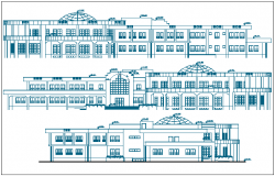 Azad university library elevation dwg file