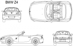 BMW Z24 detail dwg file