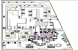 BMW car showroom architecture layout plan details dwg file