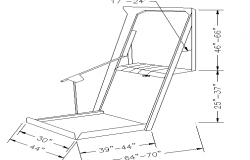 Baby walker chair cad design block dwg file